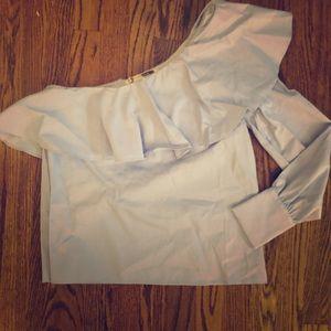 One sleeve dress blouse